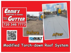 modified torch-down roof system